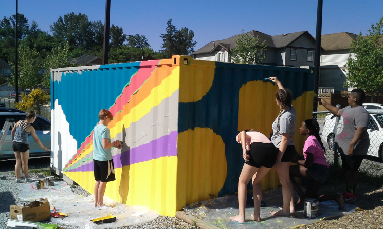Kanaka Creek Elementary School collaborative murals