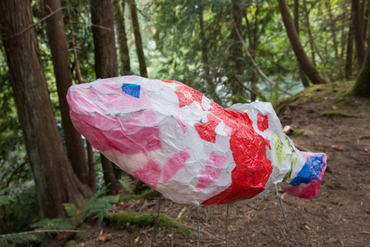Colourful salmon lantern