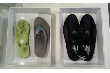 Unnatural History Collection, water shoes + flip flops