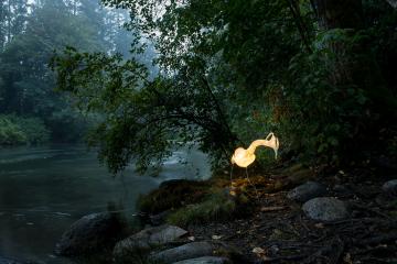 Heron lantern