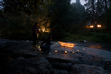 Canoe lantern