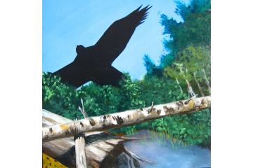 Up the Creek - detail (hawk)