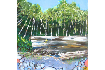 Up the Creek - detail (goldfinch)