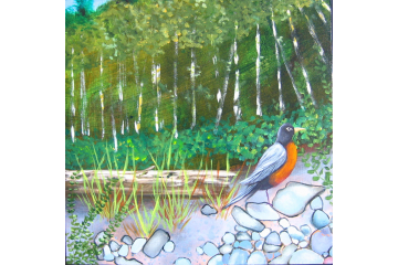Up the Creek - detail (robin)