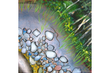 Up the Creek - detail (garter snake)